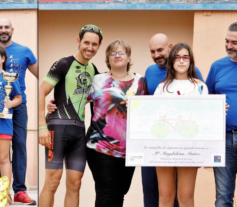 Alexandra Buse Blesa  fue la ganadora del concurso de dibujo del día de la bicicleta.