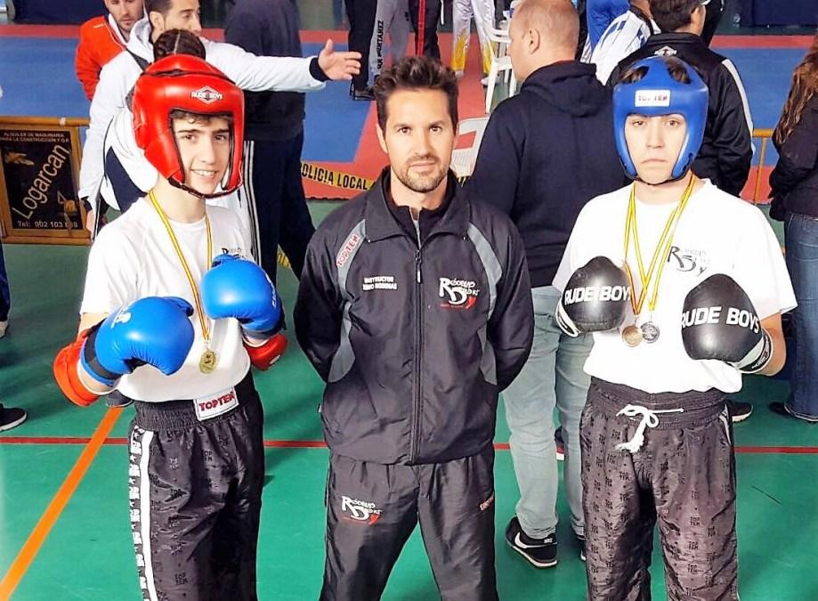 Jonás y Gabriel Miralles consiguen  la el oro en la Copa Federación de Kickboxing de la Comunidad Valenciana.