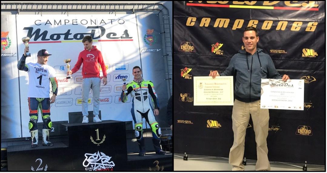 Jorge Berenguer subcampeón en el campeonato de motociclismo de velocidad de la Comunidad Valenciana.