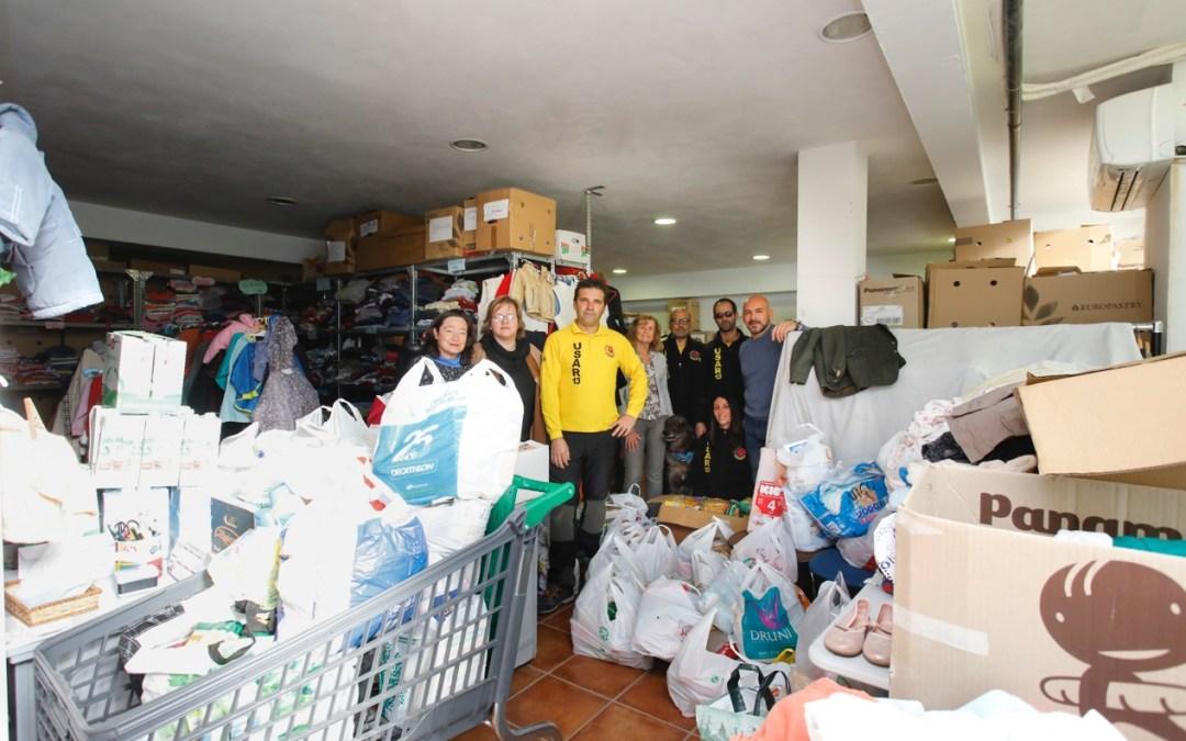 U.S.A.R-13 dona más de 600 kilos de alimentos al Voluntariado Social de l'Alfàs