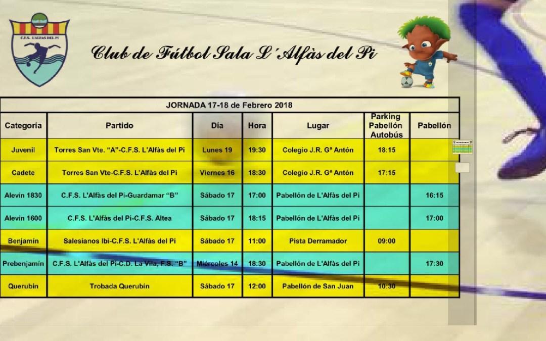Partidos de los equipos de fútbol sala de l'Alfàs del Pi