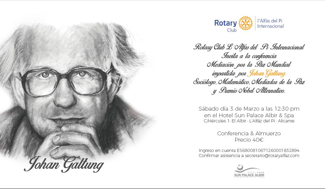 Conferencia promovida por el Rotary Club Internacional de l'Alfàs del Pi