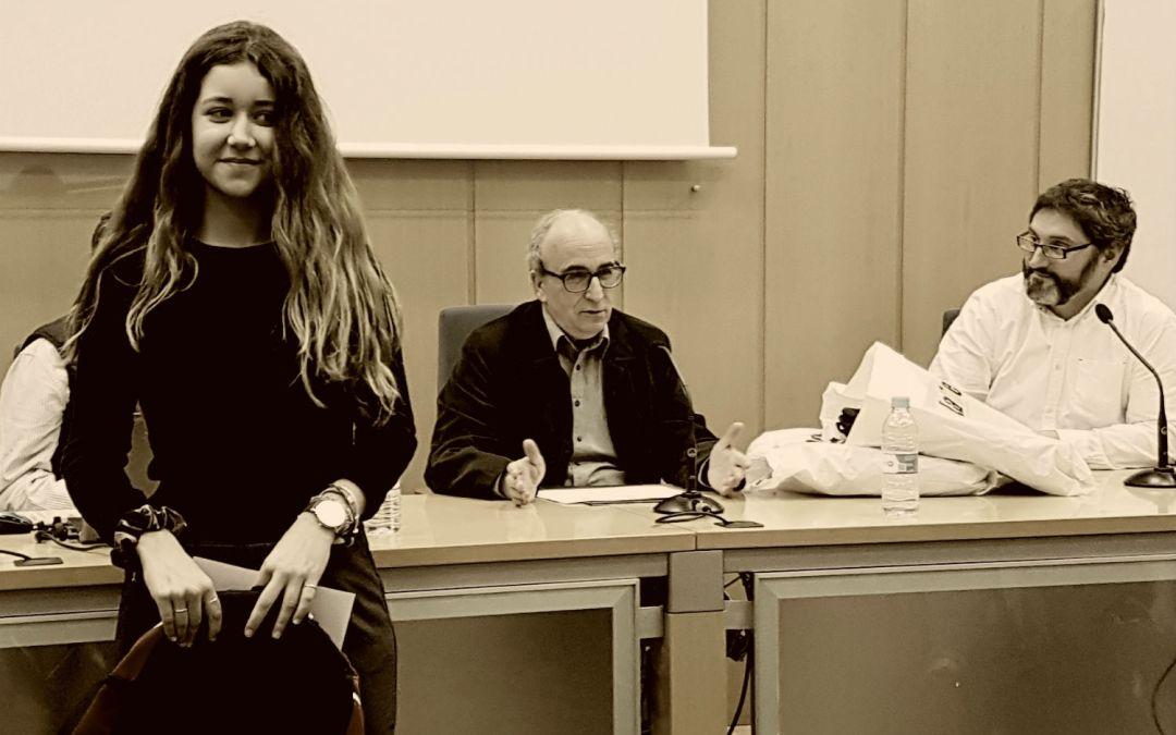 La alfasina Aitana Gaforio galardonada en la X Olimpiada de Filosofía de la Comunidad Valenciana