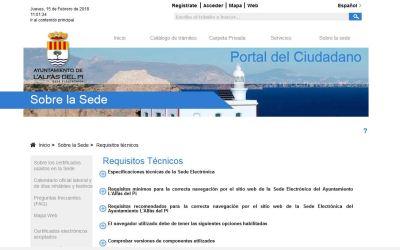 Crece el uso del Registro General Electrónico en el Ayuntamiento de l'Alfàs del Pi