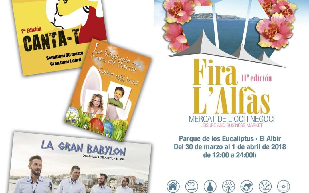 Mañana arranca la undécima edición de Fira L'Alfàs en el parque de los Eucaliptos de l'Albir
