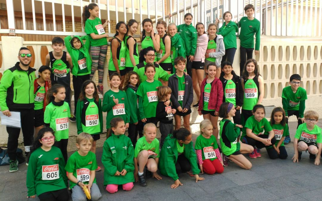 12 niños del Club Atletismo el Faro subieron al pódium en el   XXXIX Cross Popular Festa El Calvari de Benidorm