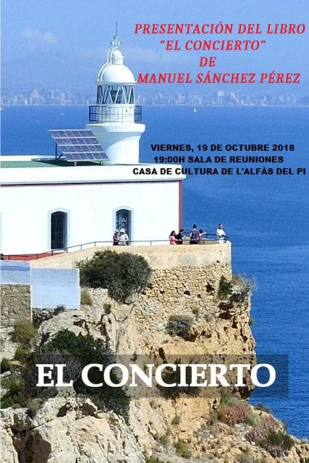 Manuel Sánchez presenta en la Casa de Cultura su novela 'El Concierto'