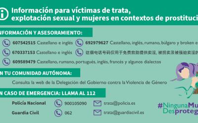 Se amplía el Plan de contingencia contra la violencia de género a las víctimas de trata y explotación sexual
