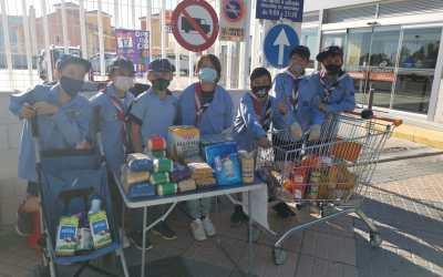 El Grupo IV Scout de l'Alfàs reúne 1.500 kilos de alimentos y productos de higiene para bebés