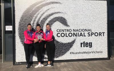Tres gimnastas del Club Primavera de l'Alfàs suben al podio en el Trofeo Federación disputado en Valencia