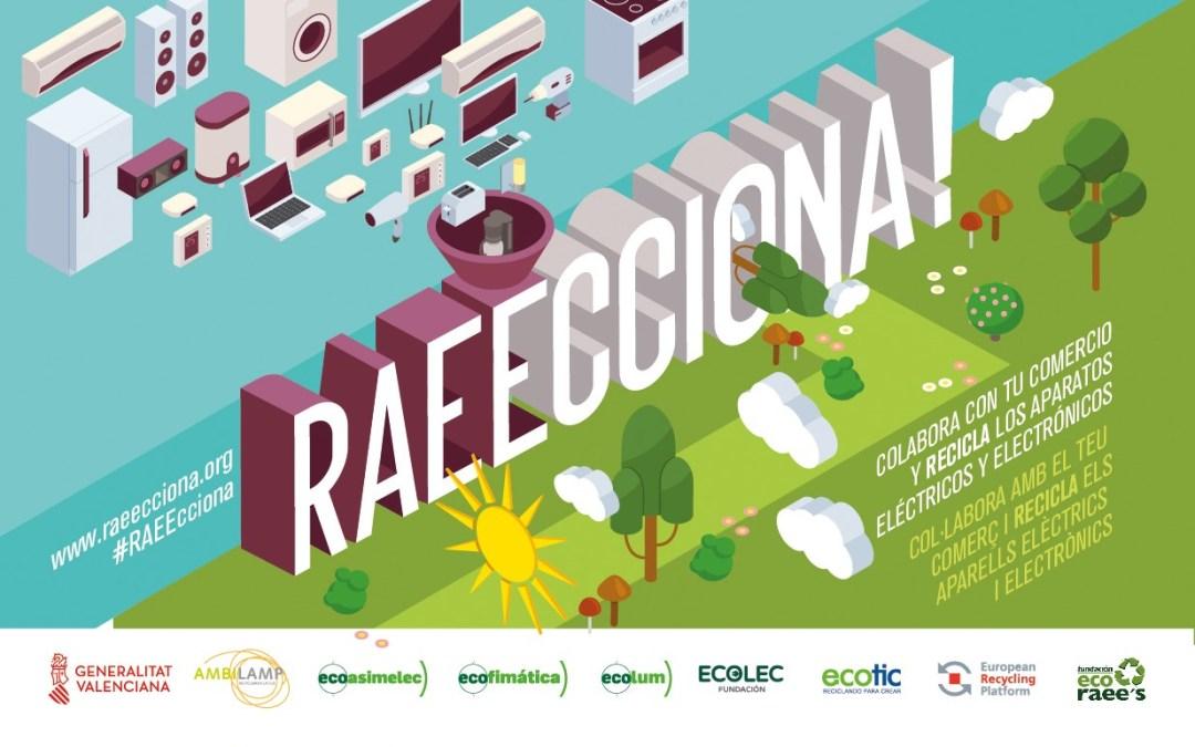 L'Alfàs del Pi participa en la campaña RAEECCIONA para la correcta gestión de aparatos eléctricos y electrónicos