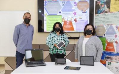 El Banco de Dispositivos Informáticos de l'Alfàs entrega material al AMPA del IES L'Arabí