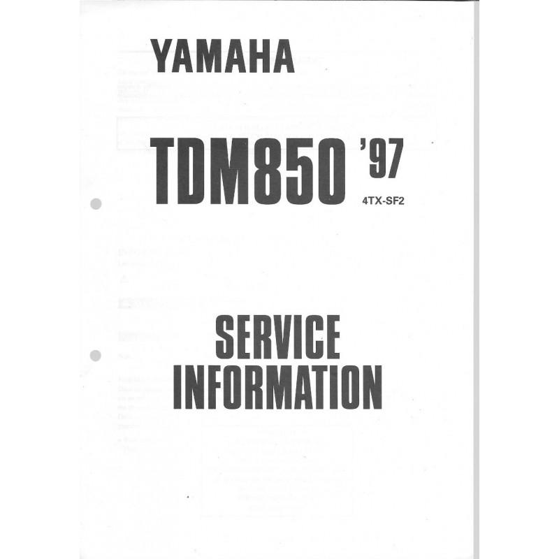 Manuel d'atelier Yamaha TDM 850 type 4TX de 1996 et 1997