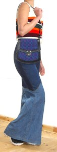 Blue and Purple tapestry front shoulder bag