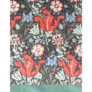 William Morris Compton design silk scarf with a green border