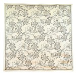 Beckford England cream and brown design silk scarf