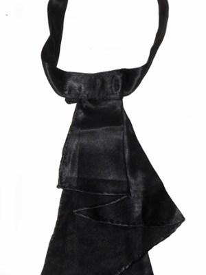 Lord Brummell Florence Italy moiré silk black bowtie cravat