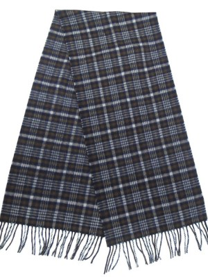 Aquascutum vintage lambswool plaid design long scarf