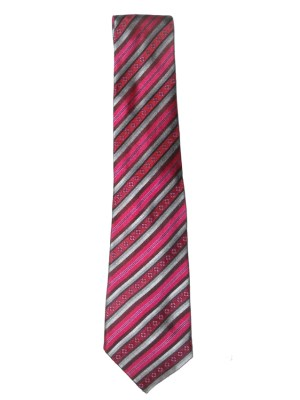 Liberty pink and silver design silk tie