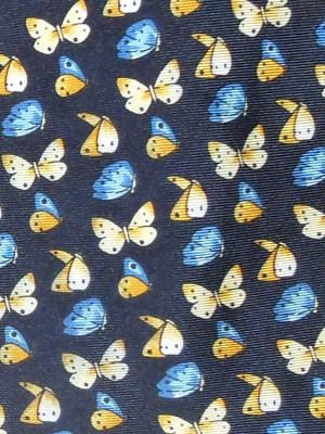 Liberty buterfly print silk tie