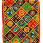 Echo nautical theme long silk scarf
