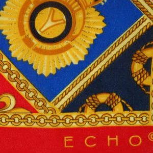 Echo nautical theme long silk scarf