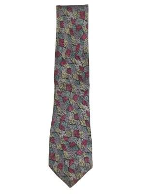 Graphic multi coloured print silk tie by Missoni