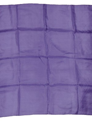 Large silk pocket square with handrolled edges in purple