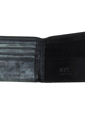 Dents black grained leather wallet