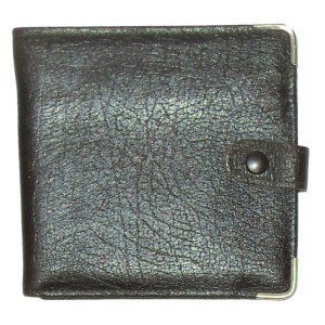 Brown hide leather bifold wallet