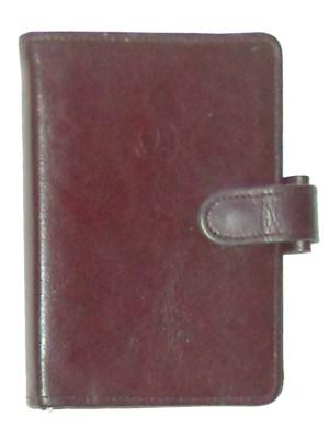 Omega vintage leather six ring organiser