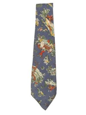 Liberty hand printed silk tie