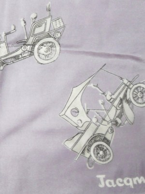 Jacqmar silk scarf with a design of vintage cars