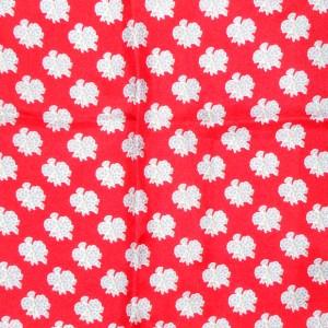 Jacqmar red floral design silk scarf