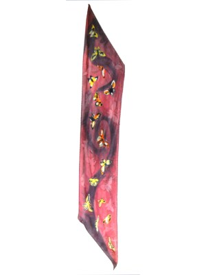 Anna Steiner butterfly silk print scarf