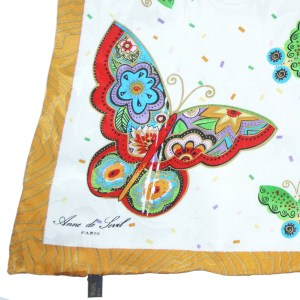 Butterfly print scarf by Anne de Sevil Paris