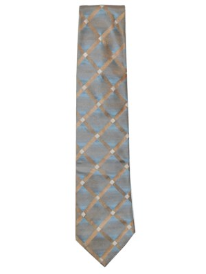 Tommy Hilfiger two tone blue and gold silk tie