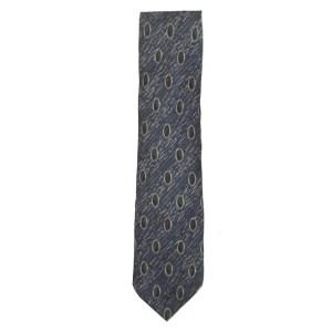 Vintage Pierre Cardin silk tie in a striking blue and brown design