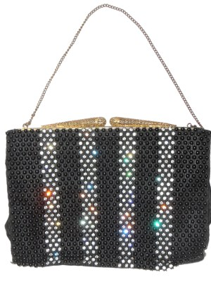 Vintage framed evening bag with bead and crystal design