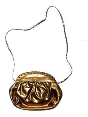 Cul de Sac Italy dark gold metallic leather bag