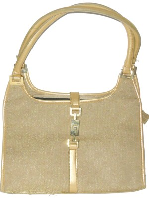 Vintage Gucci gold coloured fabric handbag