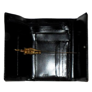 Lancetti black leather purse wallet