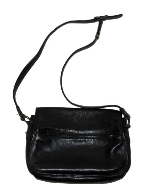 Texier France black leather shoulder bag