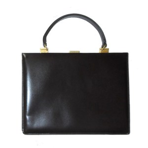 bd54587583 ... Cosci hand made in Italy dark brown leather framed handbag ...