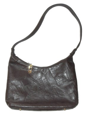 Retro Pinky USA dark brown leather bag