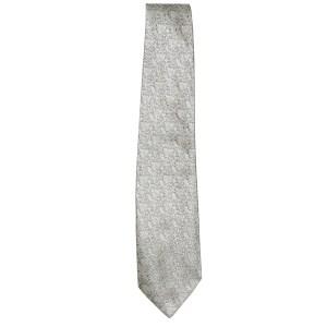 White jacquard silk tie by Pierre Balmain Paris