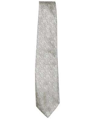 White jacquard silk tie by Pierre Balmain Paris