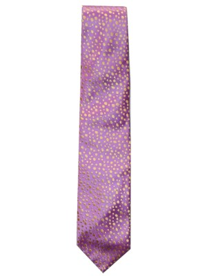 Penrose pink and gold design silk tie