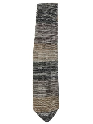 Silk knit tie in shades of brown