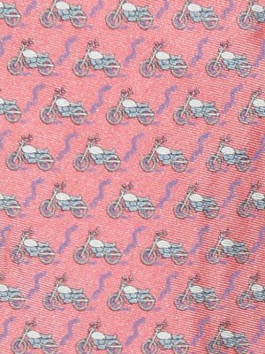 Vineyard Vines motorbike design silk tie